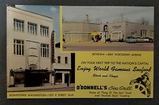 Vintage Postcard O'DONNELL'S Sea Grill Washington D.C & Bethesda, Maryland