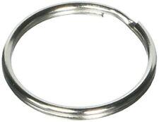 Prudance 100Pcs Lead Free Nickel Plated Steel Round Split Ring Key Rings - Bulk
