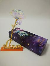 NEW-24K Gold Plated Galaxy Rose Romantic Crystal Flower Valentine's Day Gift