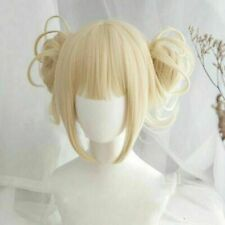 My Boku no Hero Academia Himiko Toga Light Blonde Ponytail Cosplay Wig Cap Anime