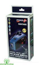 POWERPLUS PANTHER Solar & DYNAMO (a molla) ALIMENTATO radio FM e TORCIA LED