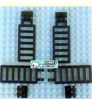 2X LEGO 6020 Brown Bar 7 x 3 with Double Clips Ladder