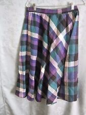 Vintage Kayo of California Plaid Skirt One Size Elasticized Waist Midi Schoolgir