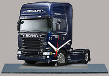 MODEL CARS, TRUCK SCANIA R730 -16  with Clock 11,8x 7,8 inches and aluminium