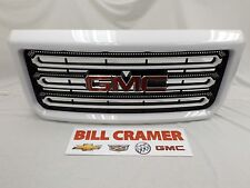 2015-2018 GMC Sierra HD GM OEM Body Colored Summit White Grille NEW