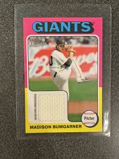 Madison Bumgarner: 2011 Topps Lineage Baseball Game Used Jersey Card Mini 75R-Mb