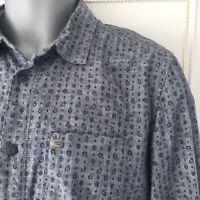 Diesel Men's Shirt Long Sleeve Blue Black Size M Medium Regular Fit Excellent