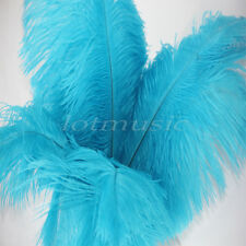 10pcs Natural Ostrich Feathers For Wedding Decorations 12~14 inch Sky-blue