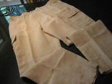 NWT - Mens CARIBBEAN Khaki Elastic Waist LINEN Cargo Pants (48 x 32)