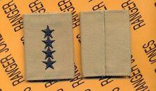 US ARMY General GEN 0-10 Desert DCU slip on rank patch