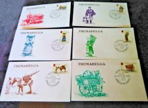Belgium 1975 Themabelga  Set on Six First Day Covers