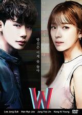W – Two Worlds Korean Drama (4DVDs) Excellent English & Quality!