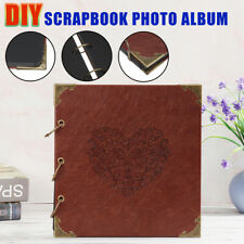 Vintage Photo Album Travel Record Memory Storage Self Adhesive DIY Scrapbook PU