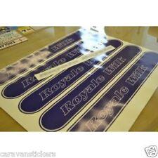 WILK Royale Caravan Banner Stickers Decals Graphics - PAIR