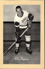 1944-63 BEEHIVE GROUP 2 PHOTOS   RON INGRAM DETROIT RED WINGS EX-MT F2506