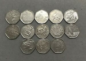 BARGAIN - 2011 Olympic Games 50p coins collection (mintage less 1.8million)