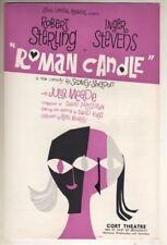 """Inger Stevens   Flyer   """"Roman Candle""""  1960   Broadway   FLOP  Robert Sterling"""