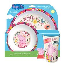 Peppa Pig Winter Assiette/bol et Ensemble Plastique Multi White 20.7 x 20....
