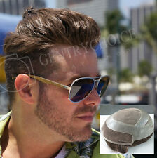 Mens Toupee French Lace Front Fine Mone Center Hairpieces 8x10 Noblehairplus