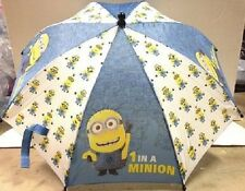 Despicable Me 2 Minion Kid Size Umbrella / 3d Figurine Handle Licensed Product