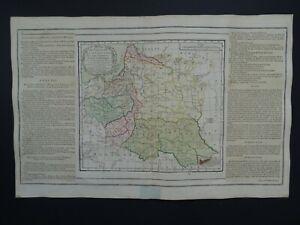 1766 BRION de la TOUR / Desnos Atlas map  POLAND - LITHUANIA - Pologne Lithuanie