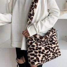 Faux Fur Leopard print Bag cross body bag  Handbag