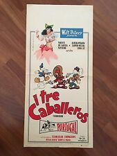 LOCANDINA,1959 I tre caballeros The Three Caballeros WALT DISNEY,BRASIL Miranda