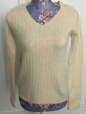 THE ROW-CREAM CASHMERE V NECK SWEATER-SIZE:S-MINT CONDITION!