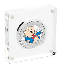 2019 Perth Mint $1 1oz Coloured Porky Pig Silver Proof Coin D2-3311