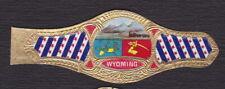 Ancienne Bague de Cigare Vitola  BN122903 Ecusson Etats Unis Wyoming