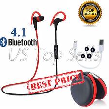 Bluetooth 4.1 Wireless Stereo Headset Headphone Earphone Earbuds Sport Universal