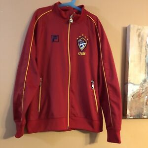 2013 FILA Soccer Track Suit Team Spain Size Boy's (14/16) Red Full Zip Up