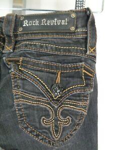 Rock Revival Black Patti Boot Jeans Size 24 Bke Buckle