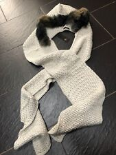RIVER ISLAND LADIES CREAM FAUX FUR HOODED SCARF BRAND NEW £30