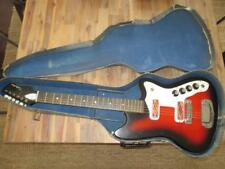 1960's Silvertone 1479 Bobkat Vintage Guitar DeArmond Red Foil PU's 1477 Harmony