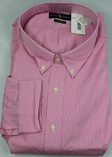 Polo Ralph Lauren Dress Shirt Mens 22 34 35 Classic Fit Pink White Blue Pony