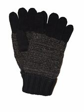 BRIONI Italy Men's Brown 100% Cashmere Tweed Knit Gloves M