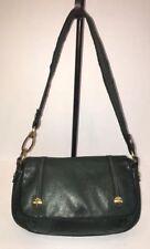 Designer GIO SHI, Pebbled Leather, Hunter Green Handbag