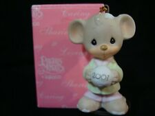 Precious Moments Ornaments-Mouse/Snowball- Dated 2001 Limited Edition