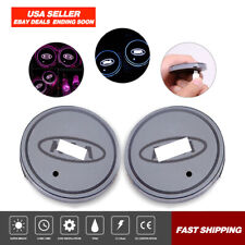 Pair Colorful LED Car Cup Holder Pad Mat Fits KIA Auto Interior Atmosphere Light