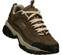 Leather Skechers Brown Shoes Mens Casual Soft Sneaker Memory Foam 50172 Big Tall