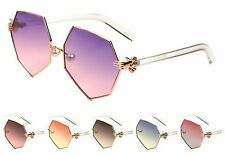 Wholesale 12 Pair Geometric Women Fashion Sunglasses with Oceanic Color Lens