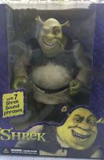 "Vintage Talking Shrek ! 2001 12"" Super size Shrek Figure McFarlane Toys Nib"