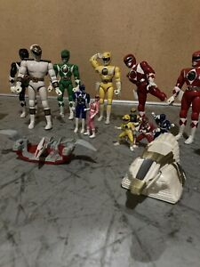 Power Rangers Mighty Morphin And Tigerzord Amazing Lot!