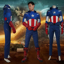 2016 Movie  Captain America Cosplay Costume Steve Rogers Adult Avengers