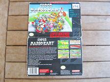 SUPER MARIO KART (1993) Super Nintendo (SNES) SNSP P MK COVER - NO CARTUCCIA