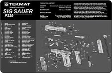 SIG SAUER P229 9mm SELF LOADING PISTOL GUNSMITH DISASSEMBLY & CLEANING TEKMAT