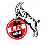 AUTOAUFKLEBER 1 FC KÖLN STICKER AUTO AUFKLEBER KLEIN RUND TRANSPARENT 3,5 cm KFZ