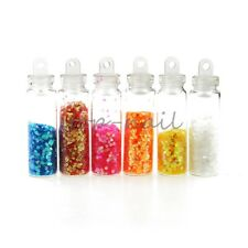 Blueness 12 Bottles 3D Nail Resin Powder Opp Bags Decorations Manicure