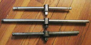 """lot of 3vtg USA T-BARs 1/2"""" SLIDE HANDLE. Craftsman =V= series Giller, Herbrand"""